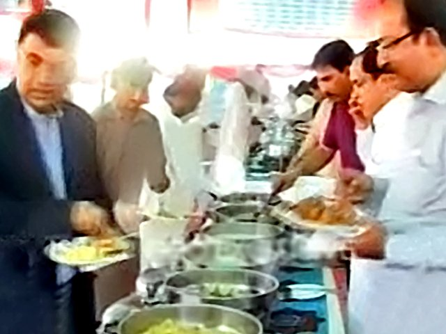 The CM and his team reportedly enjoyed a dinner of fried fish, tikkas, biryani, malai boti, koftas and roti. PHOTO: EXPRESS