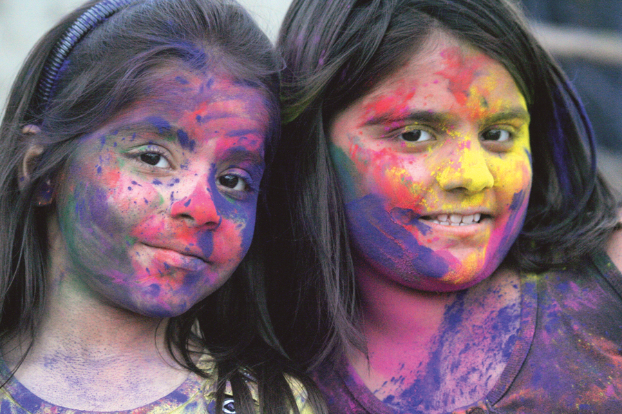 people from all walks of life   irrespective of caste colour or creed   joined the hindu community to celebrate the colourful festival of holi at the lakshmi narayan temple on sunday photo athar khan express