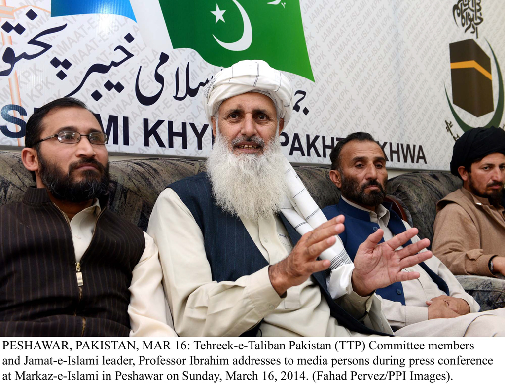 tehreek e taliban pakistan ttp intermediary professor mohammad ibrahim photo ppi