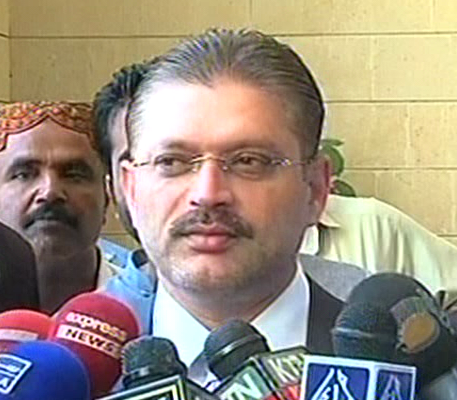 express news screengrab of sindh minister for information and local government sharjeel inam memon