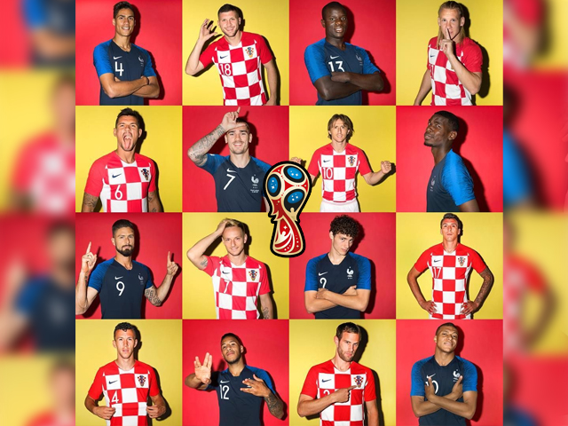 In this composite image a comparison has been made between the players France and Croatia. France and Croatia meet in the FIFA World Cup 2018 final. PHOTO: FIFA