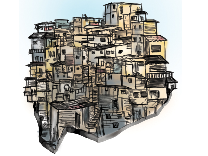 an estimated 60 70 of the provincial capital is made up of illegal settlements design munira abbas