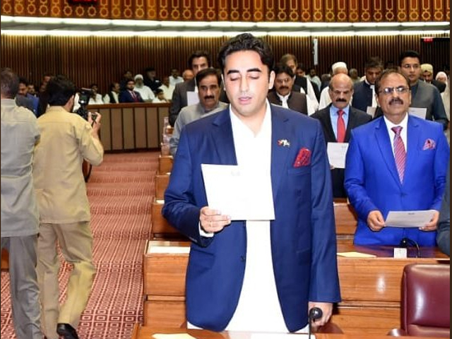 Since Bilawal is an MNA now and will represent his party in Parliament, he can convey his message through a proper channel. PHOTO: TWITTER/ ARFA BHUTTO