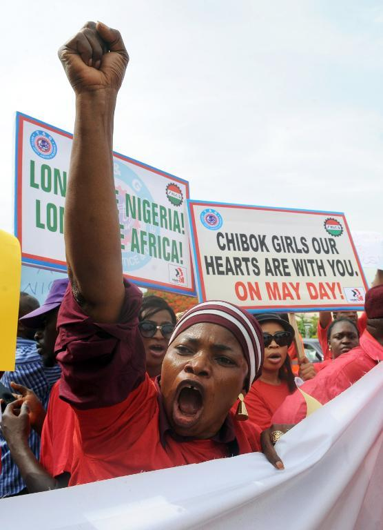 The violence and mass abduction has triggered worldwide anger. PHOTO: AFP