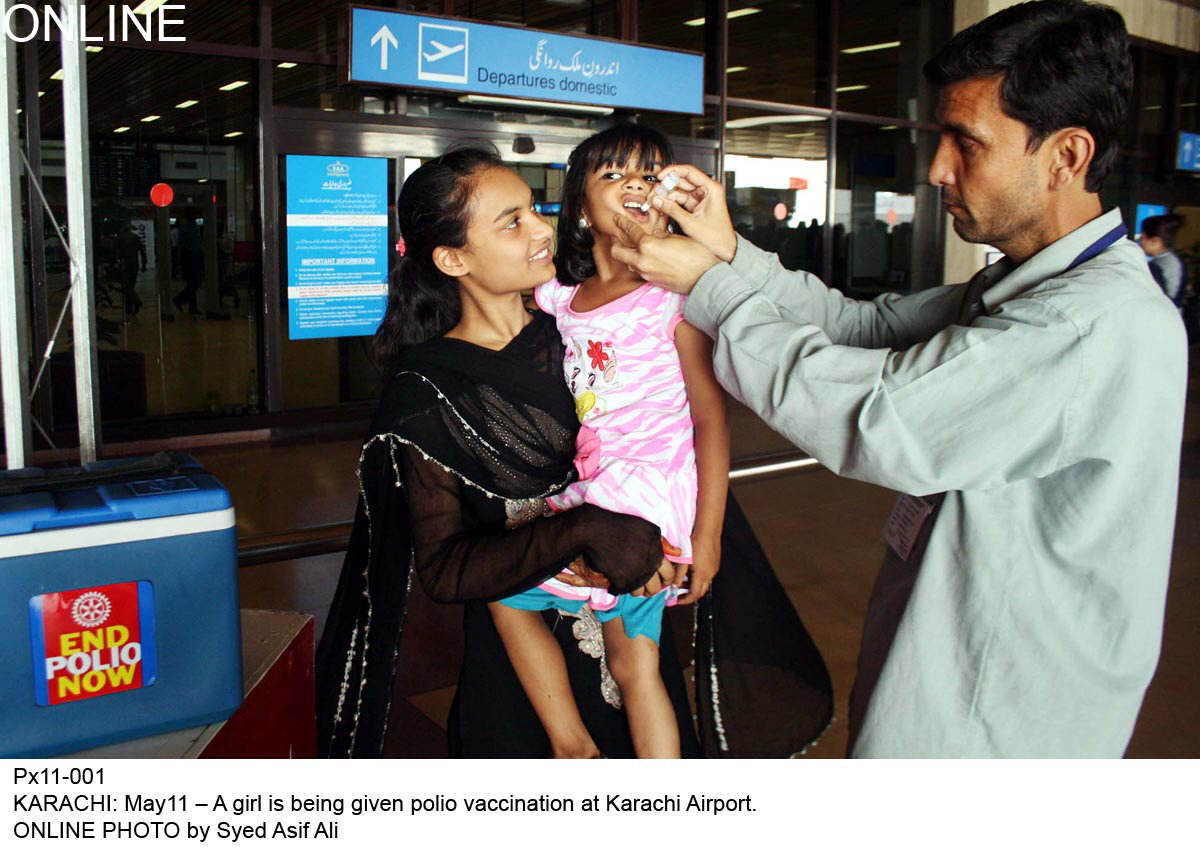 an official in the ministry of nhsrc who requested anonymity said it will be mandatory from june 1 for people of all ages to receive polio drops and produce a certificate before travelling out of the country photo online