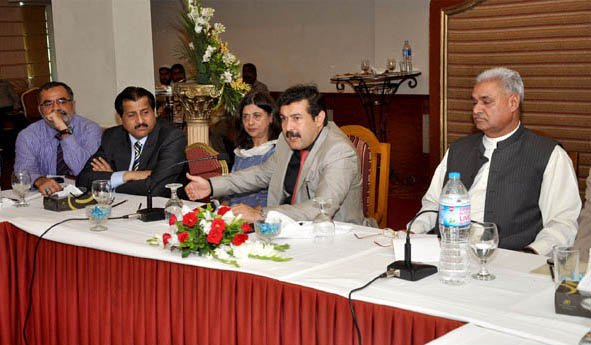 """""""The government will support those who increase value-addition in the textile sector. And since the garment sector does most of the value-addition; it will certainly get government support,"""" said Federal Minister for Textile Industry Abbas Khan Afridi. PHOTO: PID"""