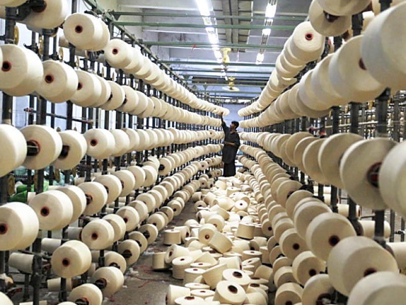 Pakistan exported textile goods worth $1.054 billion in April against $1.235 billion in March, a decline of 14.6%.  PHOTO: FILE