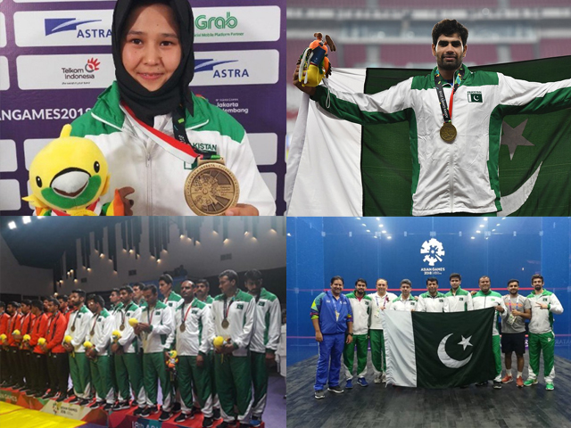 The only bronze medals came from four different sports: athletics, kabaddi, karate and squash.