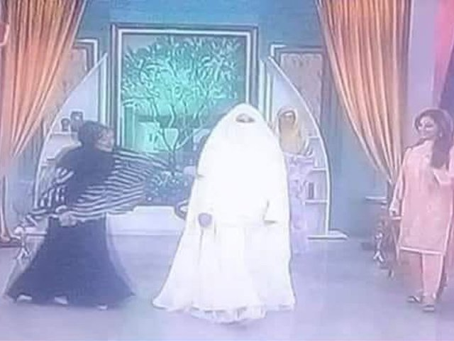 Television shows talk about the mystery behind the burka more than the energy crisis in the country. PHOTO: SCREENSHOT