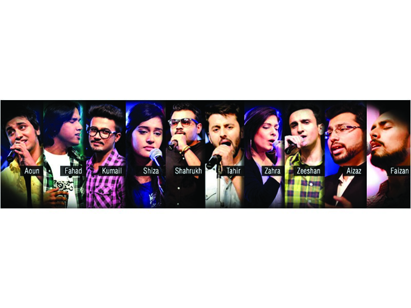 The first round, which included a song each by 10 singers, offers unique renditions of both Pakistani and Indian songs. PHOTO: PUBLICITY