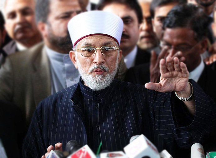 Tahirul Qadri says only Rs10m fine imposed on Geo, while channel sent Rs50b defamation notice to ISI. PHOTO: ONLINE