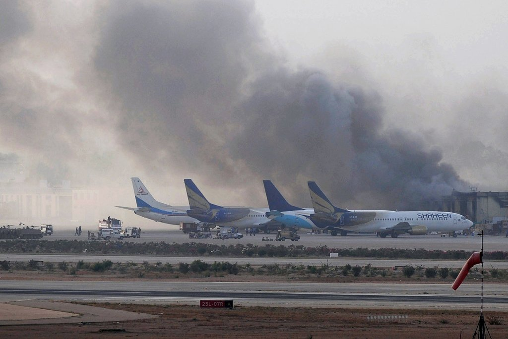 Police said they had also increased patrolling of the area around the airport. PHOTO: AFP