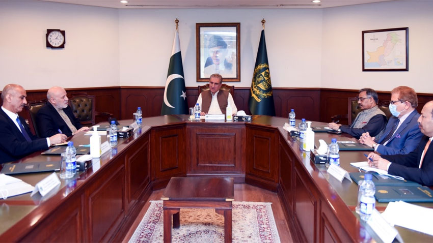 fm qureshi reiterated that a peaceful and stable afghanistan was in the best interest of pakistan photo radio pakistan