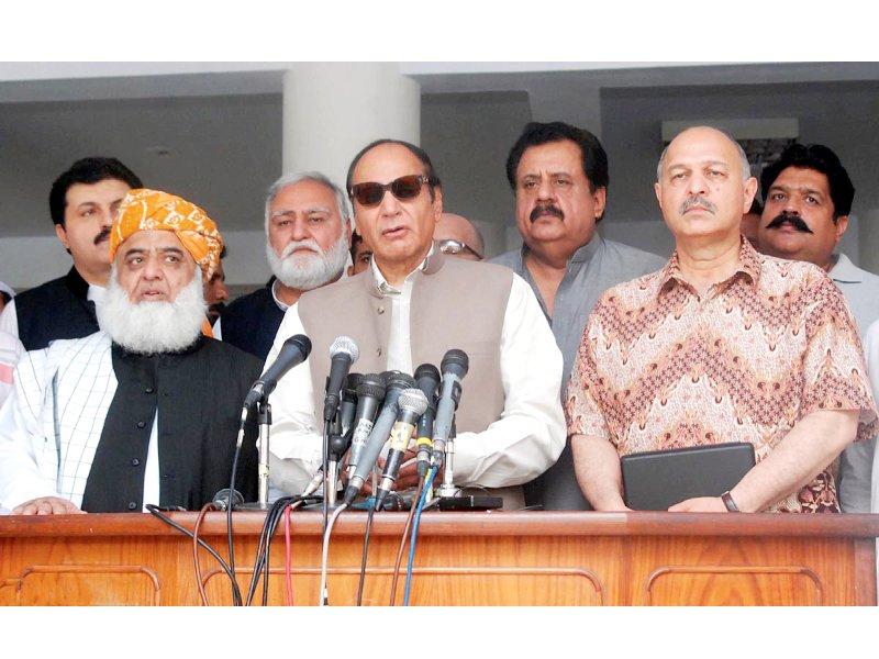 building consensus pml q invites jui f to join anti government alliance