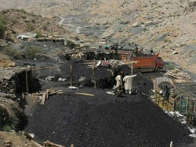 But unfortunately, here in Balochistan, the coalmine owners are illiterate, greedy and do not take care about the fact that roof and ground control are the major factors of safe mining. PHOTO: SAADEQA KHAN