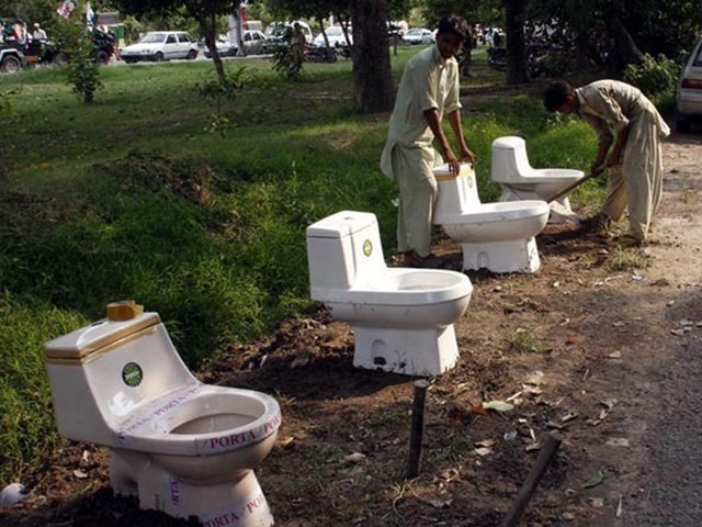 this lack of sanitation isn t limited to public offices bus and railway stations as even hospitals have deplorable toilet facilities photo inp