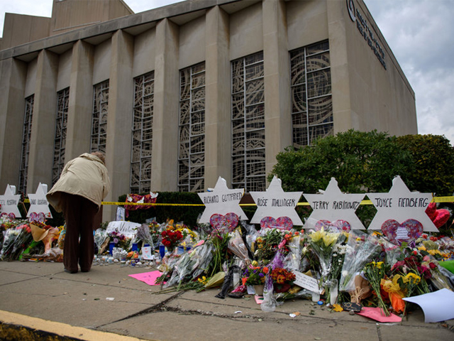 Eleven people were killed in a mass shooting at the Tree of Life Congregation in Pittsburgh's Squirrel Hill neighborhood on October 27, 2018. PHOTO: GETTY