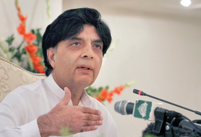govt will never use army for political gains nisar