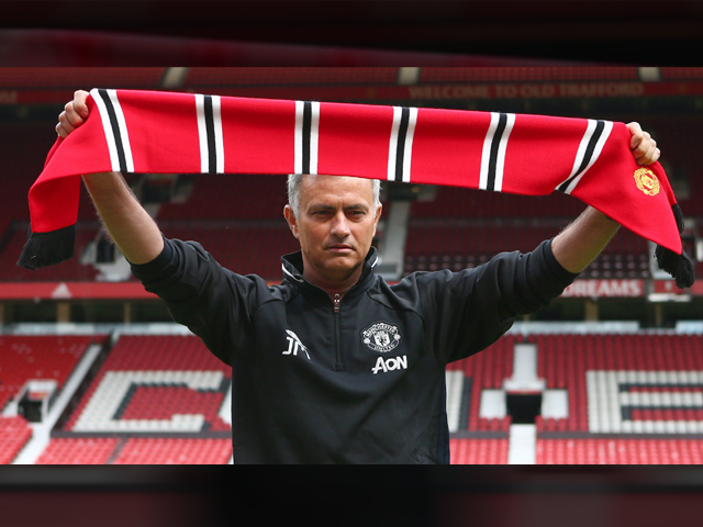 Manchester United manager Jose Mourinho during his introduction to the media at Old Trafford on July 5, 2016 in Manchester, England. PHOTO: GETTY