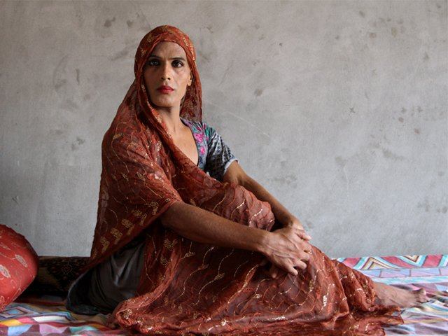 After a failed suicide attempt, Noshi decided to leave home and find a place where she would be accepted for who she is. PHOTO: FAIZAN AHMAD