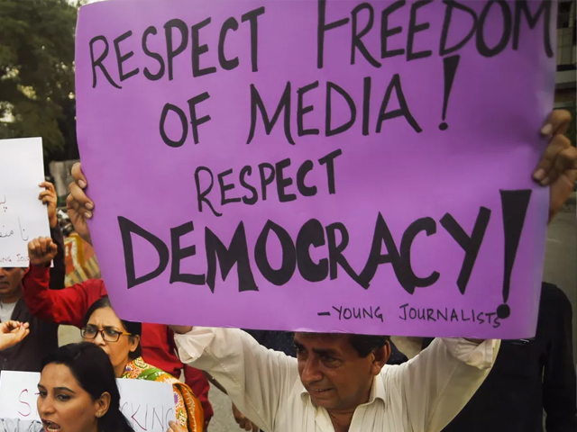 The media in Pakistan has never been free, and it has always paid the price for whatever freedom it enjoys. PHOTO: AFP