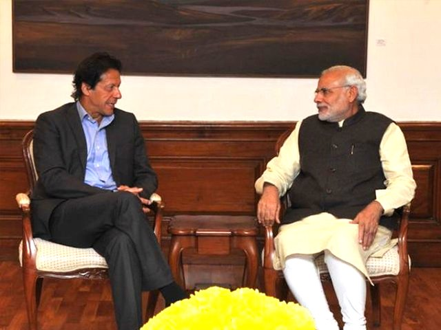 Modi's blockbuster triumph could not have been without a strong co-lead in the form of Pakistan. PHOTO: TWITTER/ MEA INDIA
