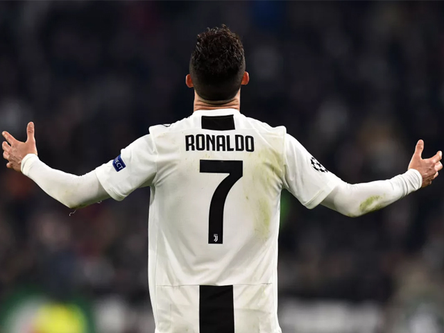Cristiano Ronaldo of Juventus in action during the UEFA Champions League Round of 16 Second Leg match between Juventus and Club de Atletico Madrid at Allianz Stadium on March 12, 2019 in Turin, Italy. PHOTO: GETTY