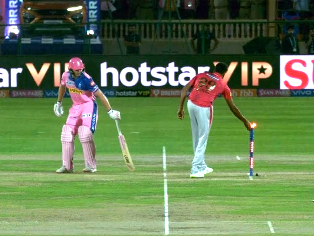 Ashwin did not break any rule of the game. He legitimately exercised a right granted to him by the laws of the game. PHOTO: FOX SPORTS