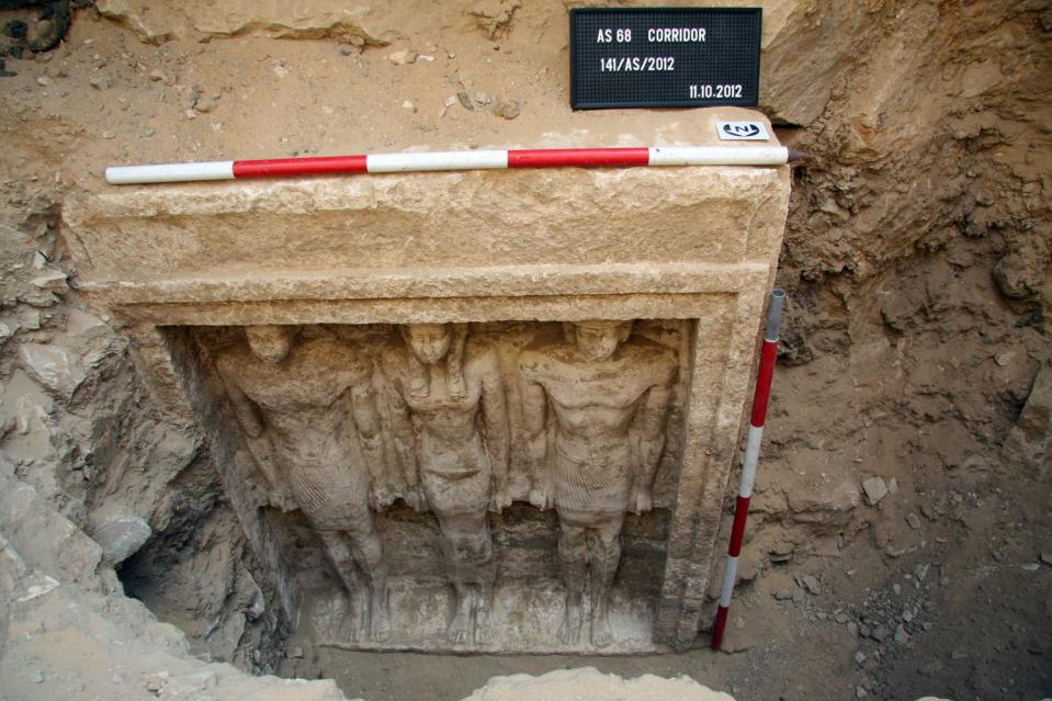 the tomb of princess shert nebti in abu sir south of cairo dating from around 2 500 bc and discovered in 2012 photo afp