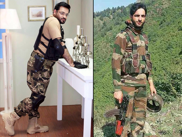 aamir liaquat as burhan wani is not only artistically insensible it s also quite disrespectful