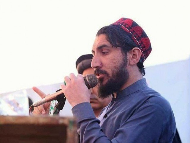 Manzoor Ahmad Pashteen speaking at a rally. PHOTO: THE PASHTUN TIMES
