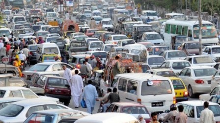 rise in lahore traffic volume frustrates planners