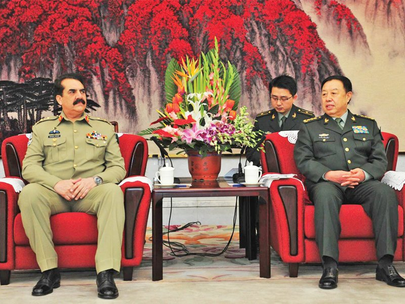 army chief general raheel sharif meets with vice chief of chinese military photo nni
