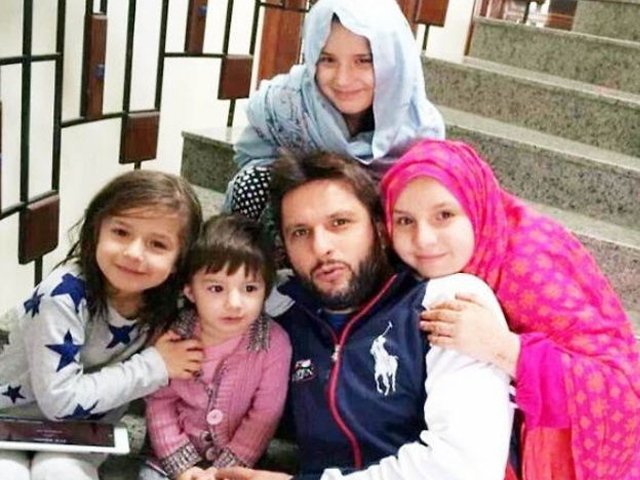 What exactly does Afridi dislike about the possibility of one of his daughters becoming a sportswoman? PHOTO: TWITTER