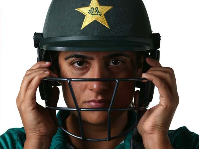 Sana Mir poses during the Pakistan portraits session ahead of the ICC Women's World T20 2018 tournament. PHOTO: GETTY