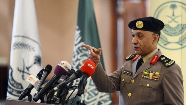 saudi arabia 039 s interior ministry spokesperson mansour turki gestures during a news conference in riyadh march 24 2013 photo reuters