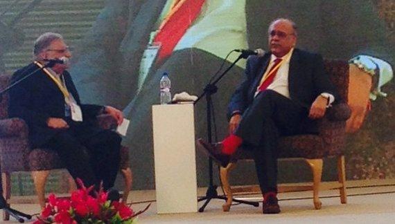 Najam Sethi at Karachi Literature Festival 2015.