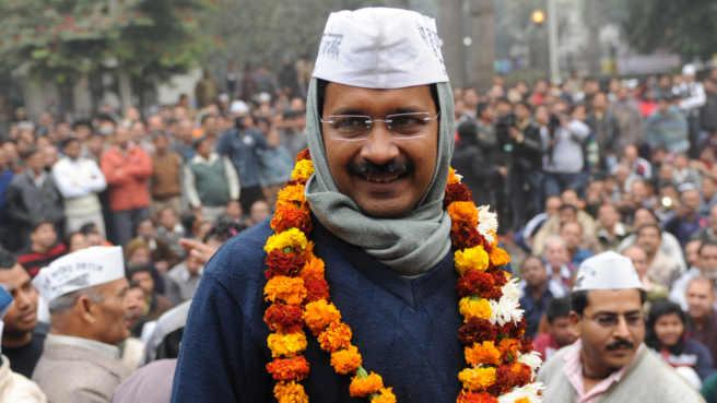 kejriwal s party sweeps delhi