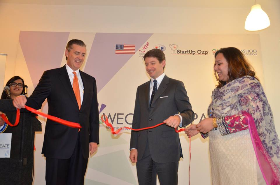 us ambassador richard olson inaugurating the women s entrepreneurial center of resources education access and training for economic empowerment in islamabad photo us embassy pakistan