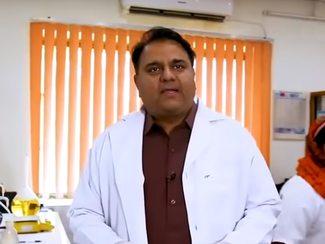 To start off his role, Fawad Chaudhry announced the launch of a five-year lunar calendar. PHOTO: SCREENSHOT/THECURRENT