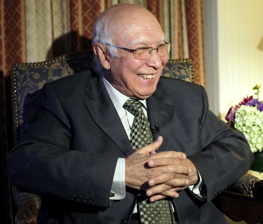 Aziz said that progress has been made on issues such as Sir Creek and Siachen.  PHOTO: REUTERS