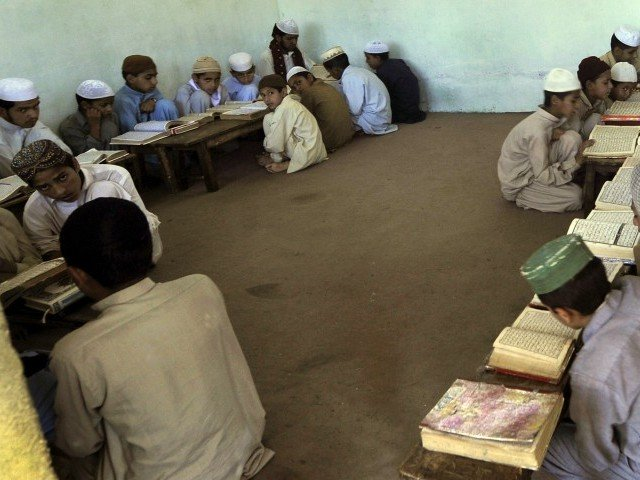 as many as 445 madrassas from the nine districts of hyderabad are registered with the auqaf department up from 370 madrassas two weeks ago photo afp
