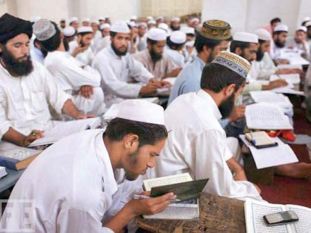 the revelation comes barely days after authorities in punjab admitted that around a thousand madrassas in the province were receiving funds from overseas photo file