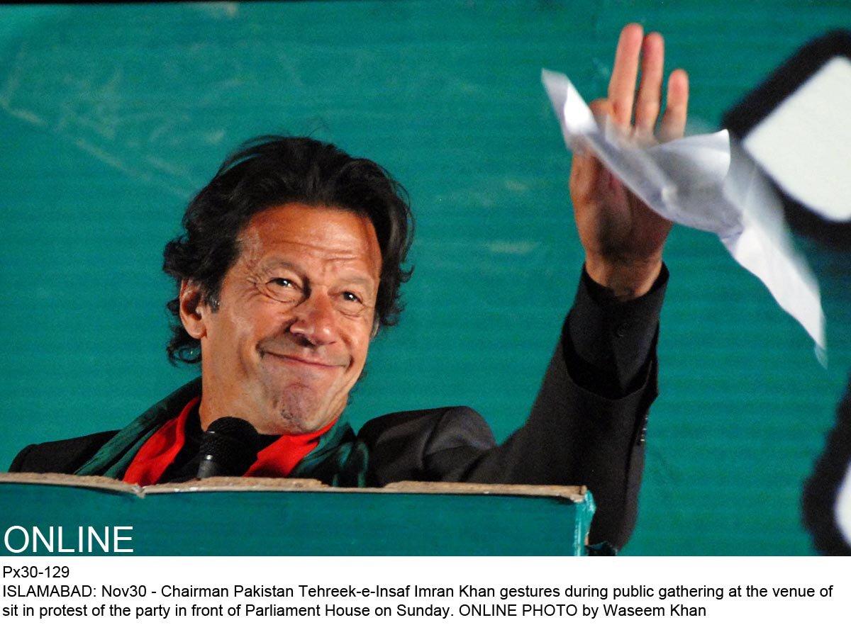 Imran Khan. PHOTO: ONLINE