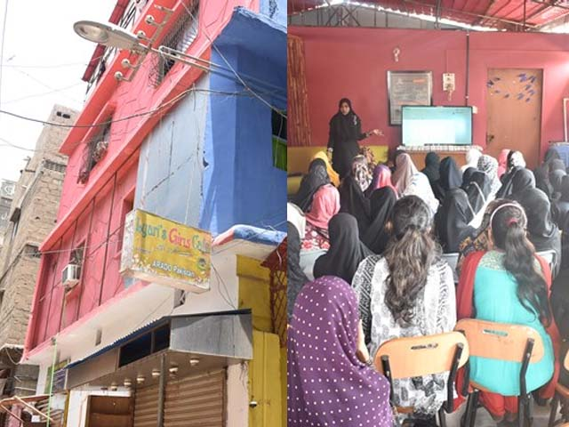 With no monthly fees, the students regularly attend educational sessions and lectures. PHOTOS: SAMEER MANDHRO