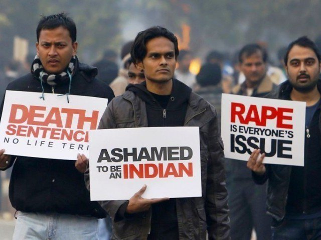 Indians protest over perceived police inaction. PHOTO: AFP