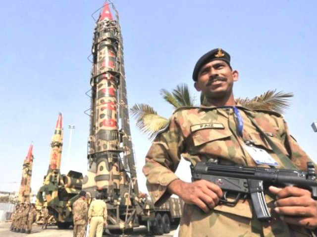 Adviser to NCA Khalid Kidwai says nuclear deterrence had helped prevent war in South Asia. PHOTO: AFP