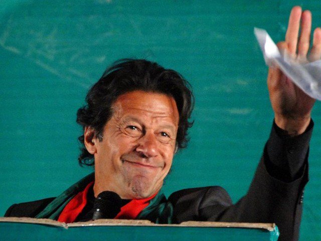 PTI chief promises huge rally in Karachi to 'defeat MQM'. PHOTO: ONLINE
