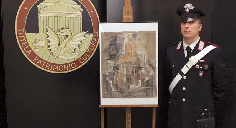 Since the frame maker, who possessed the painting, didn't know it was a valuable Picasso, he packed it away for 36 years. PHOTO: ANTENA3.COM