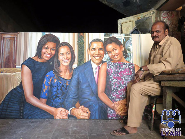 The painting is Parvez's best so far, and he wishes to share it with Obama. PHOTO: M T Latifee